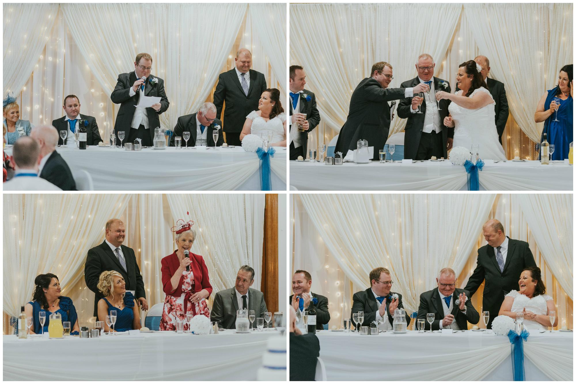 Balmoral Hotel Belfast wedding photographer Pure Photo N.I bride speeches