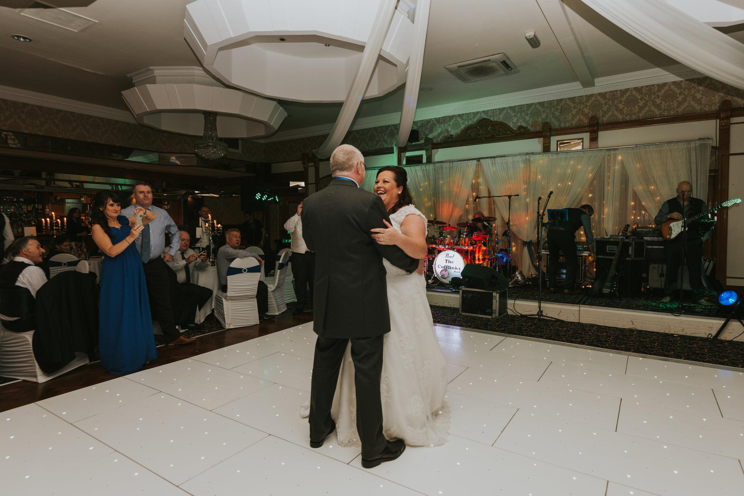Balmoral Hotel Belfast wedding photographer Pure Photo N.I first dance