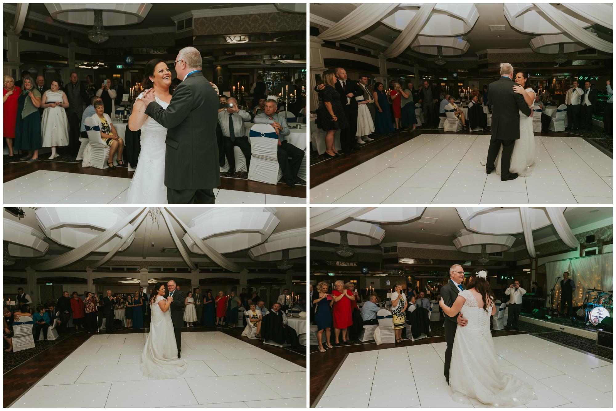 Balmoral Hotel Belfast wedding photographer Pure Photo N.I first dance bride groom