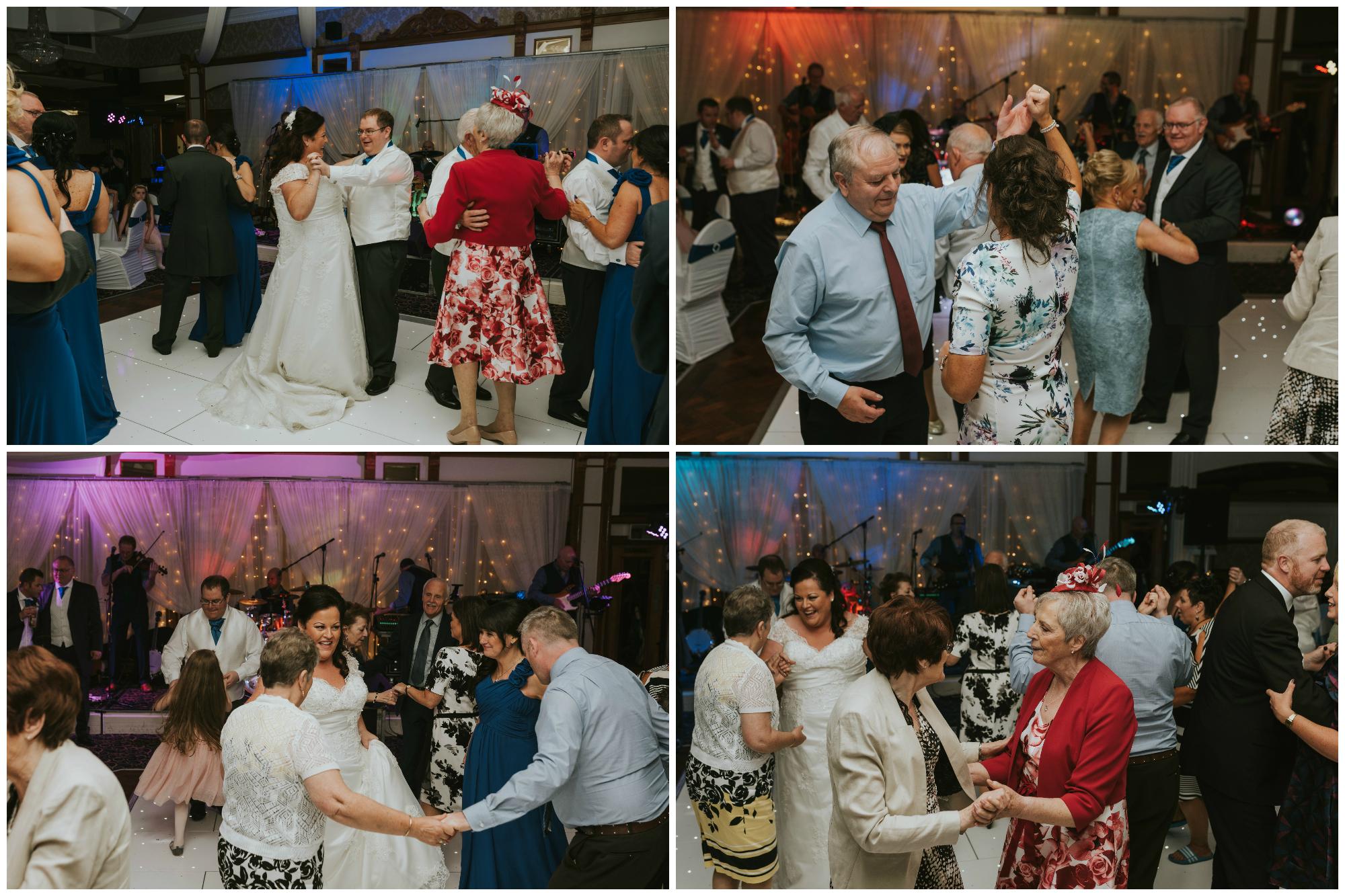Balmoral Hotel Belfast wedding photographer Pure Photo N.I guests dancing
