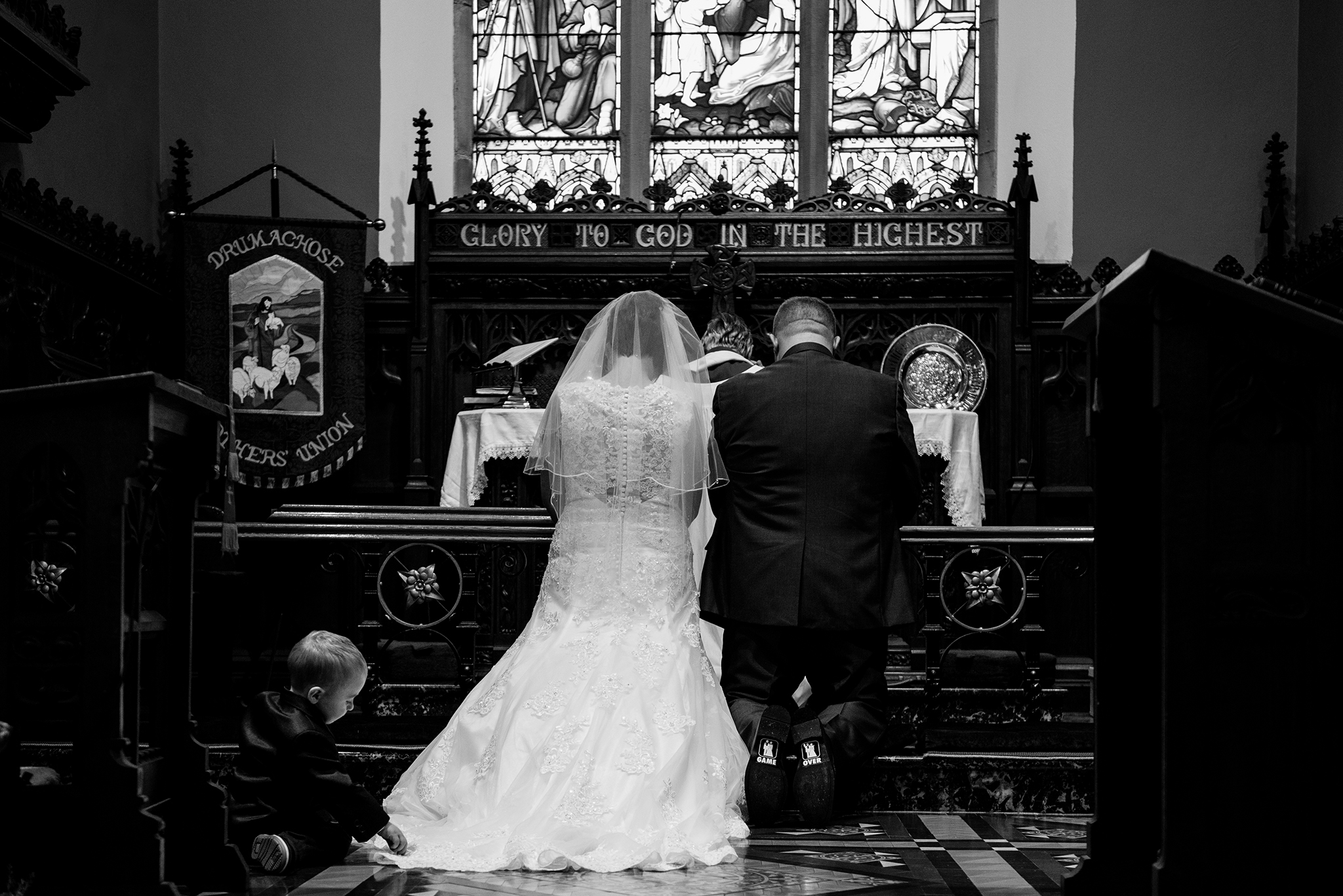 Christ Church Limavady wedding photographer Pure Photo N.I game over