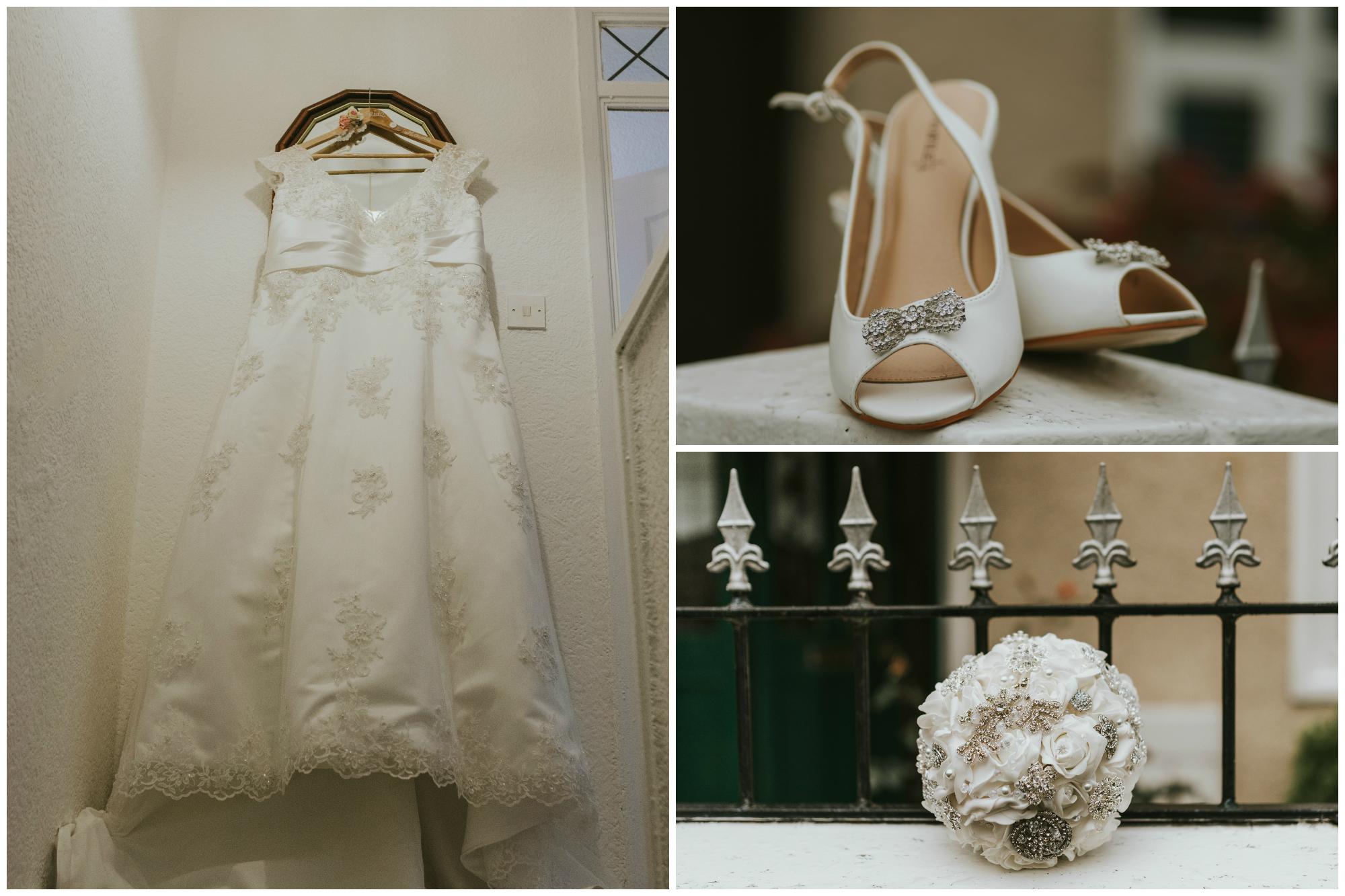 belfast wedding photographer pure photo n.i brides shoes dress flowers