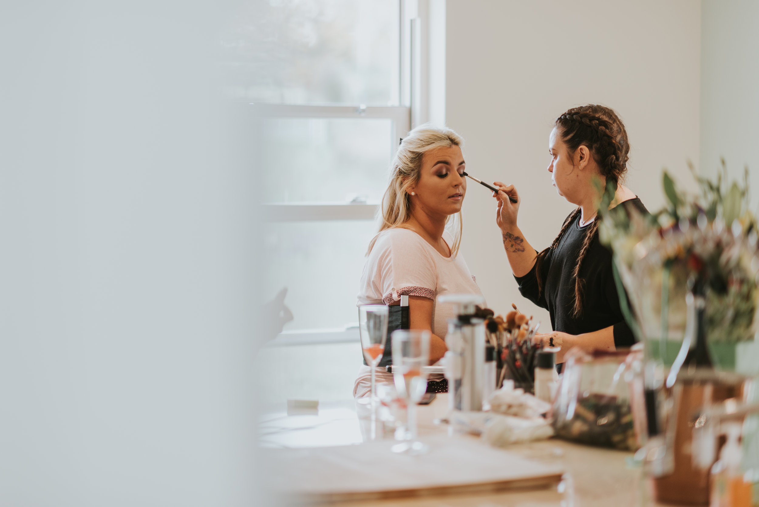 tullyglass house hotel bridesmaid makeup