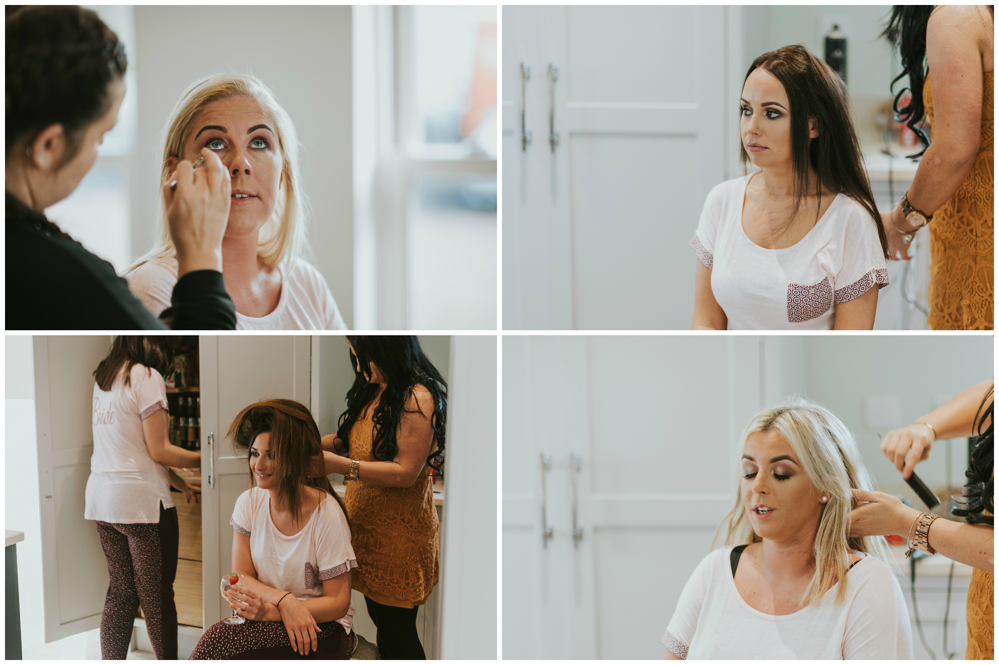tullyglass house hotel wedding bridesmaids getting ready