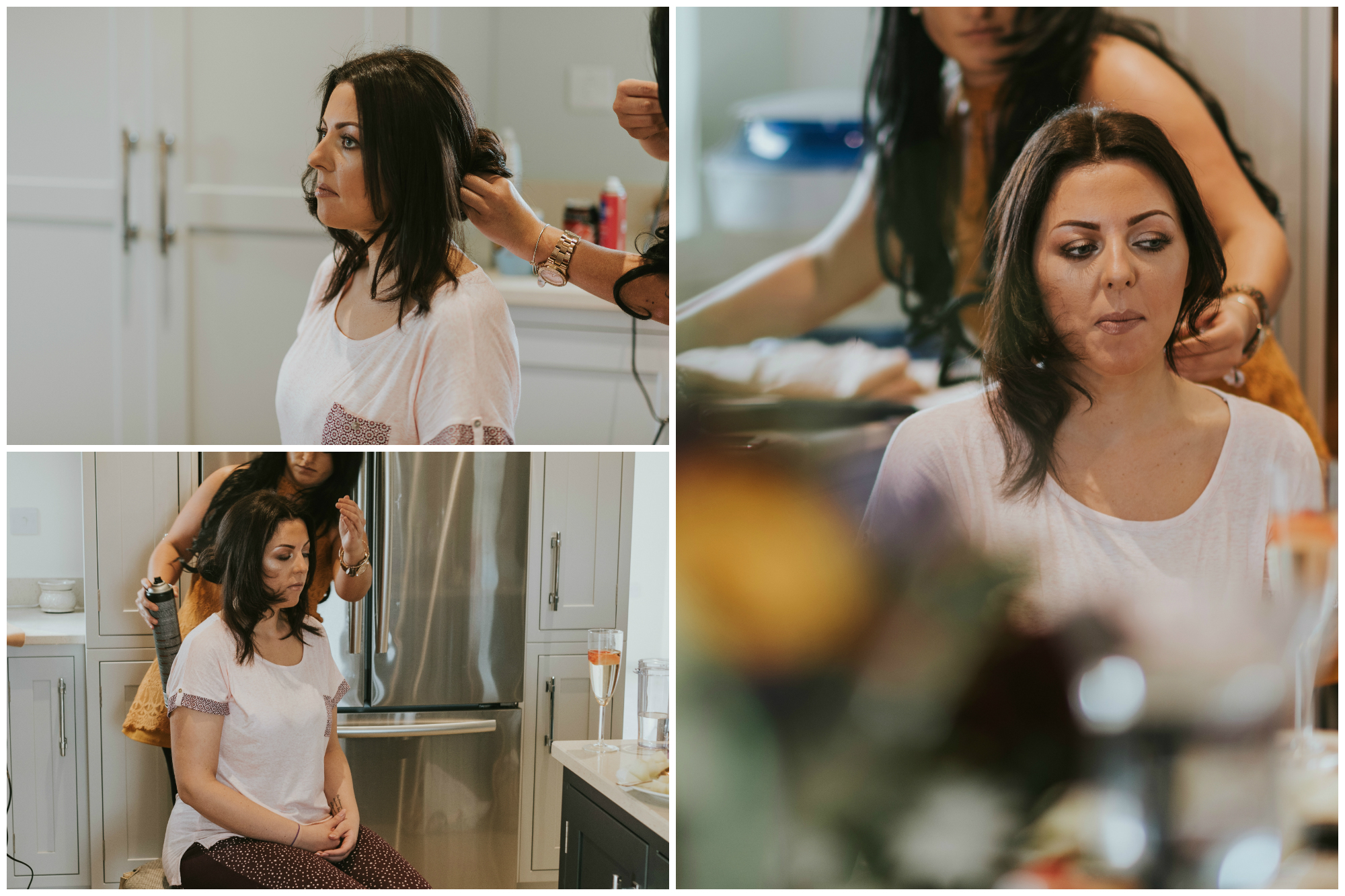 tullyglass house hotel wedding bride hair