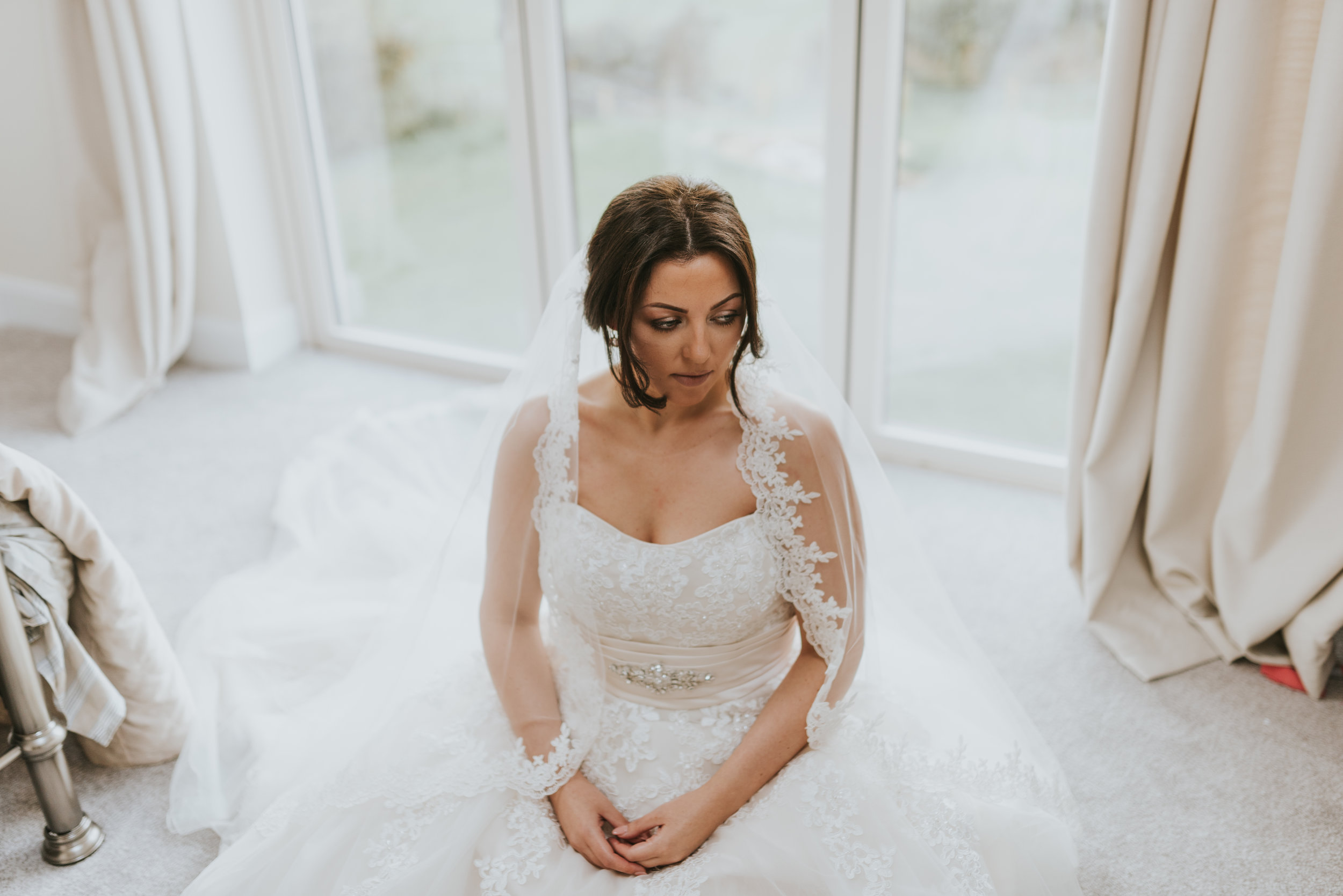 tullyglass house hotel wedding bride finished getting ready