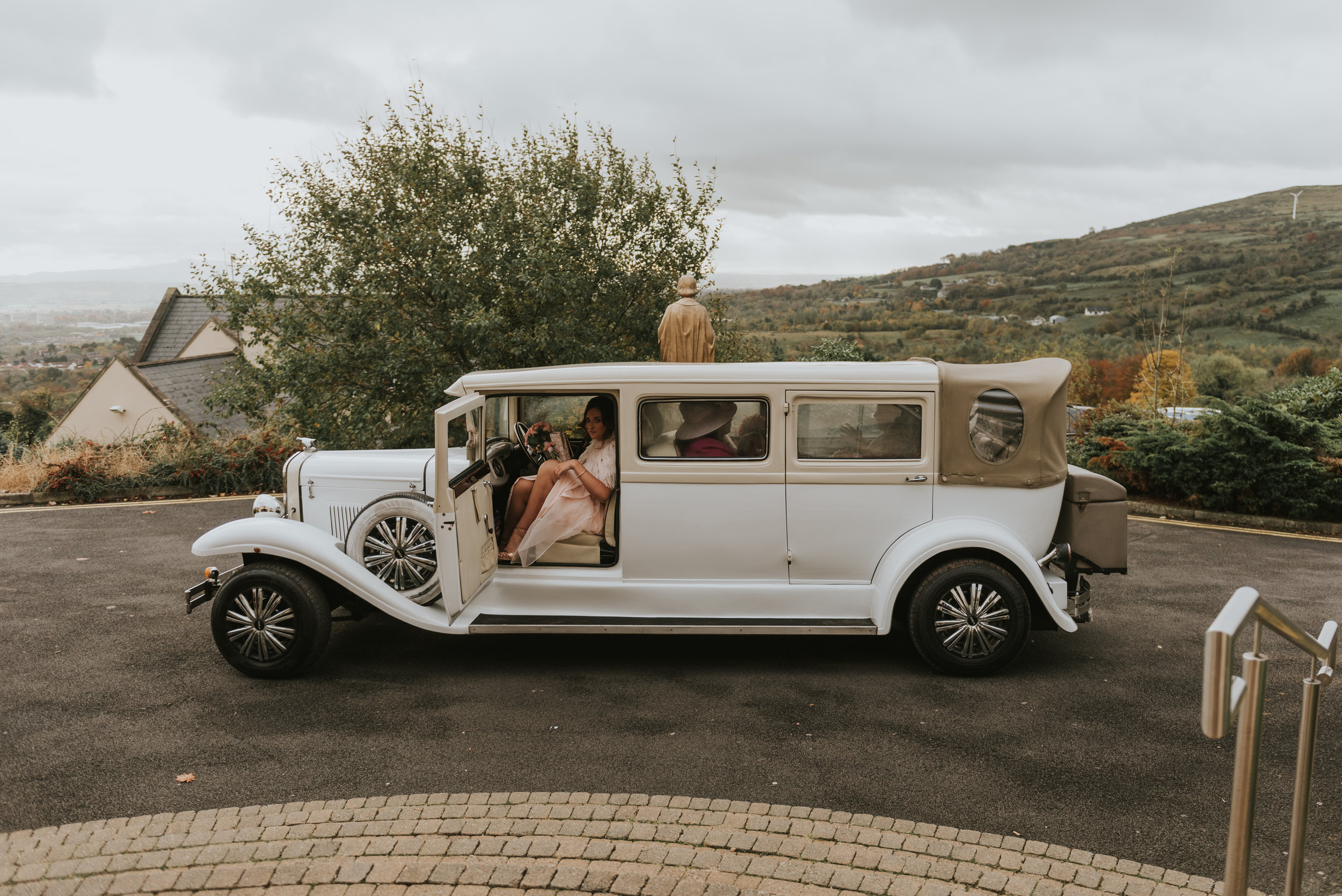 Tullyglass House Hotel Wedding bridesmaids arrival