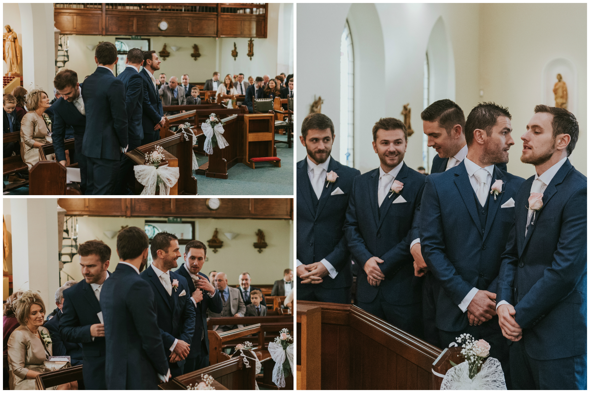 Tullyglass House Hotel Wedding ceremony groom groomsmen