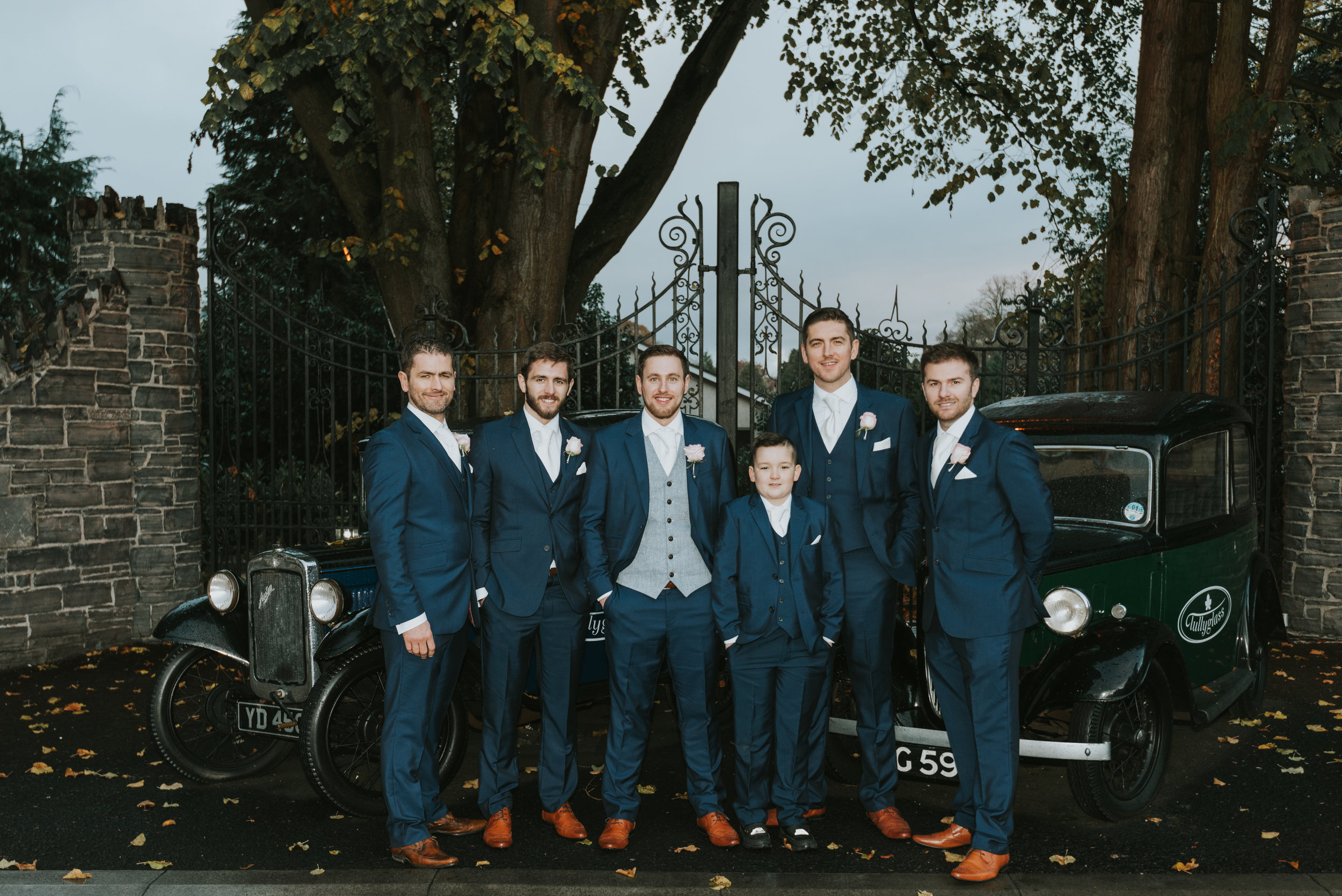Tullyglass House Hotel wedding groom and groomsmen