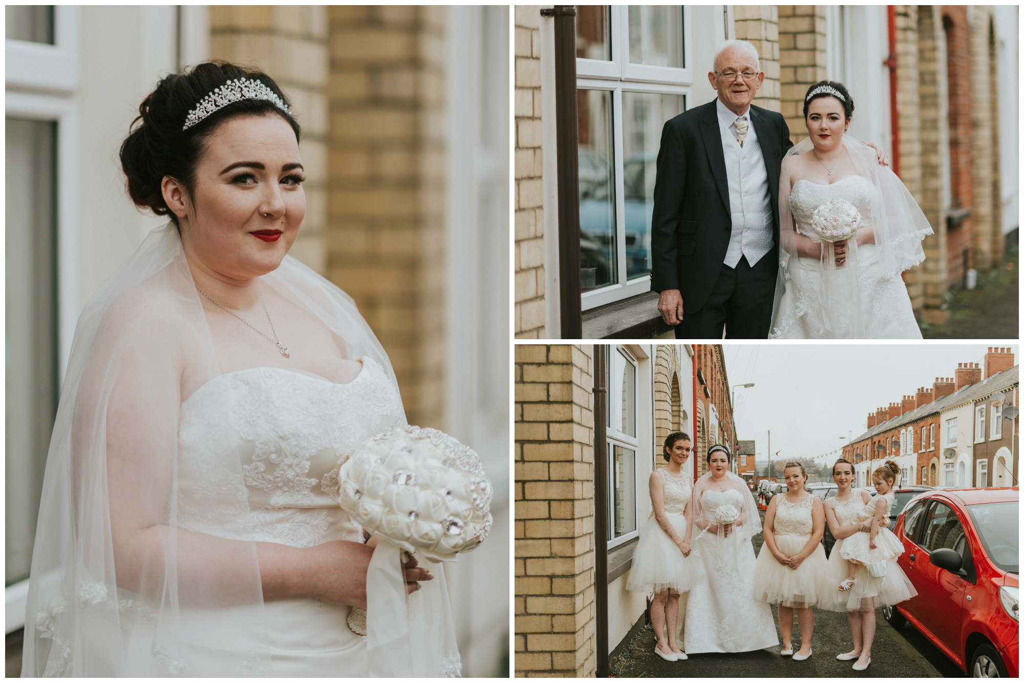ten square hotel wedding getting ready bride bridesmaid flower girl