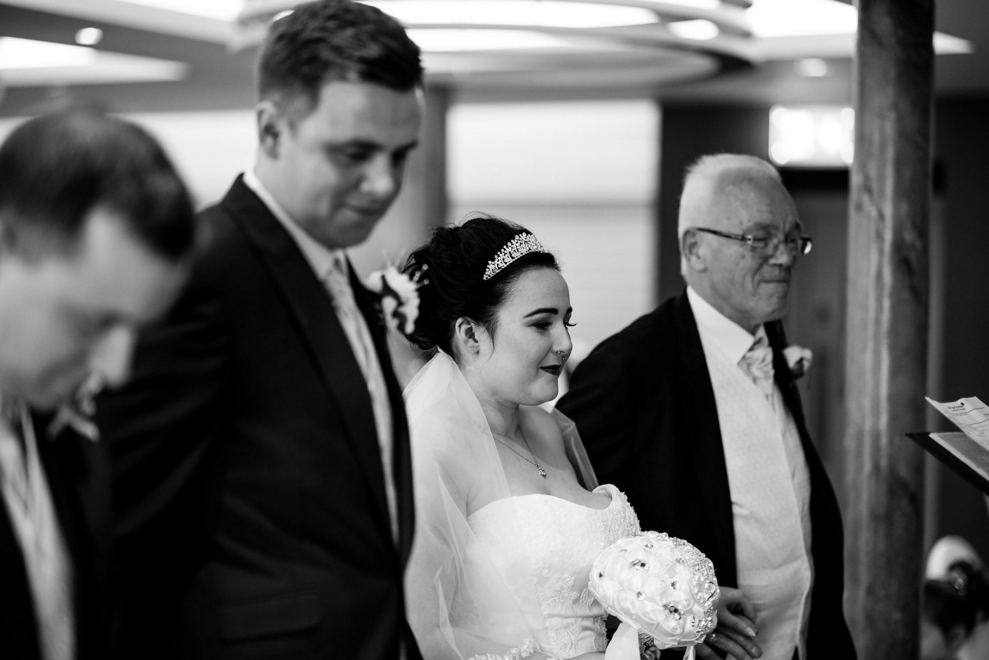ten square hotel wedding ceremony belfast bride