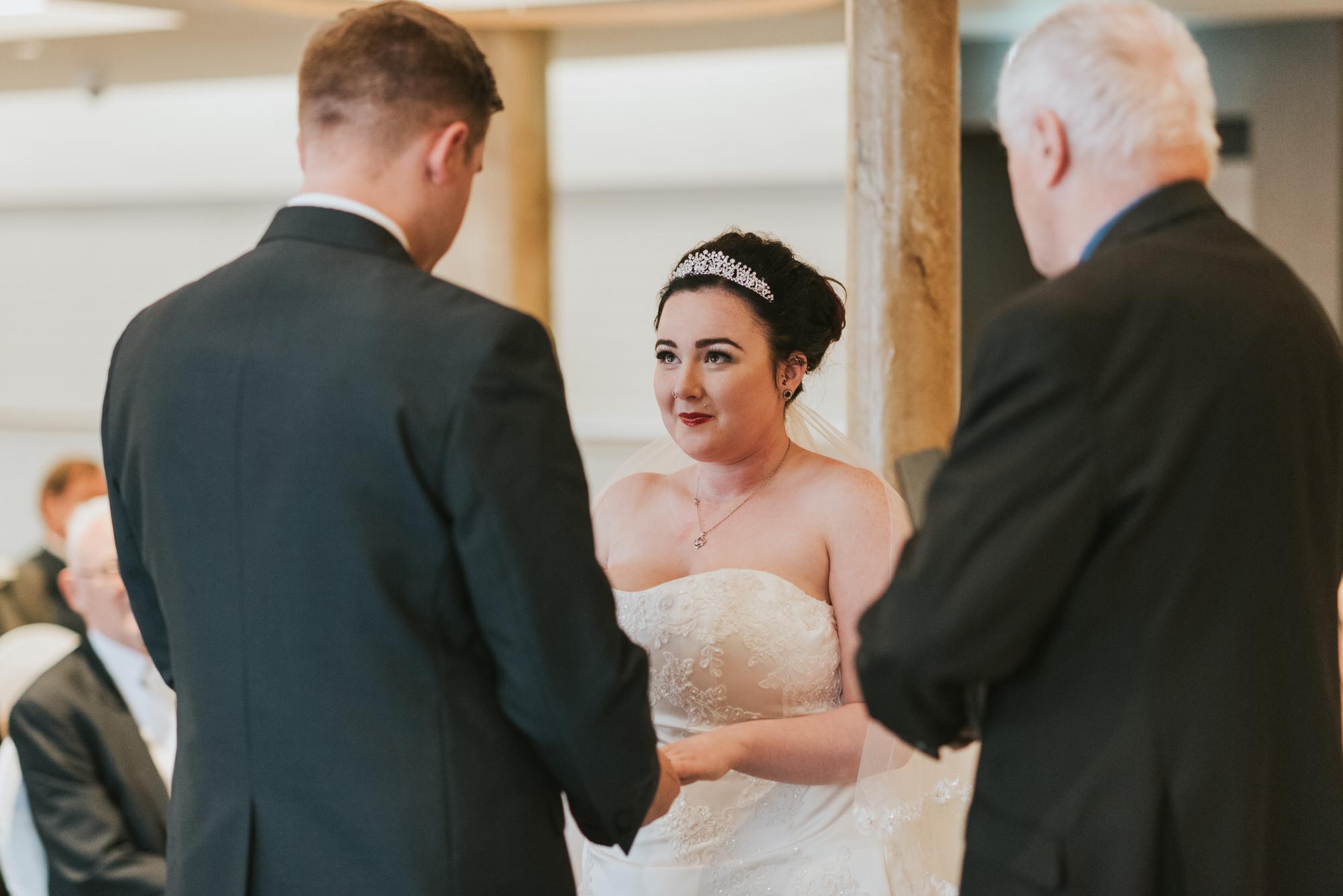ten square hotel wedding ceremony belfast groom bride