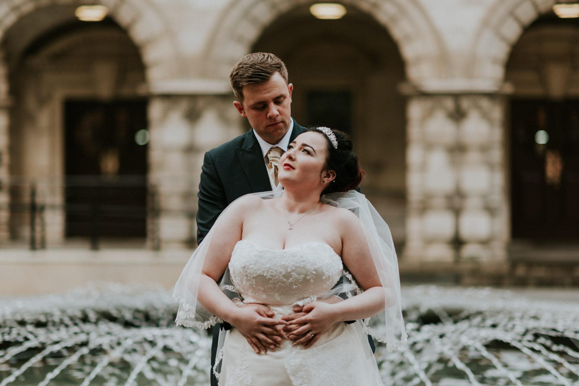 ten square hotel wedding ceremony belfast city hall groom bride