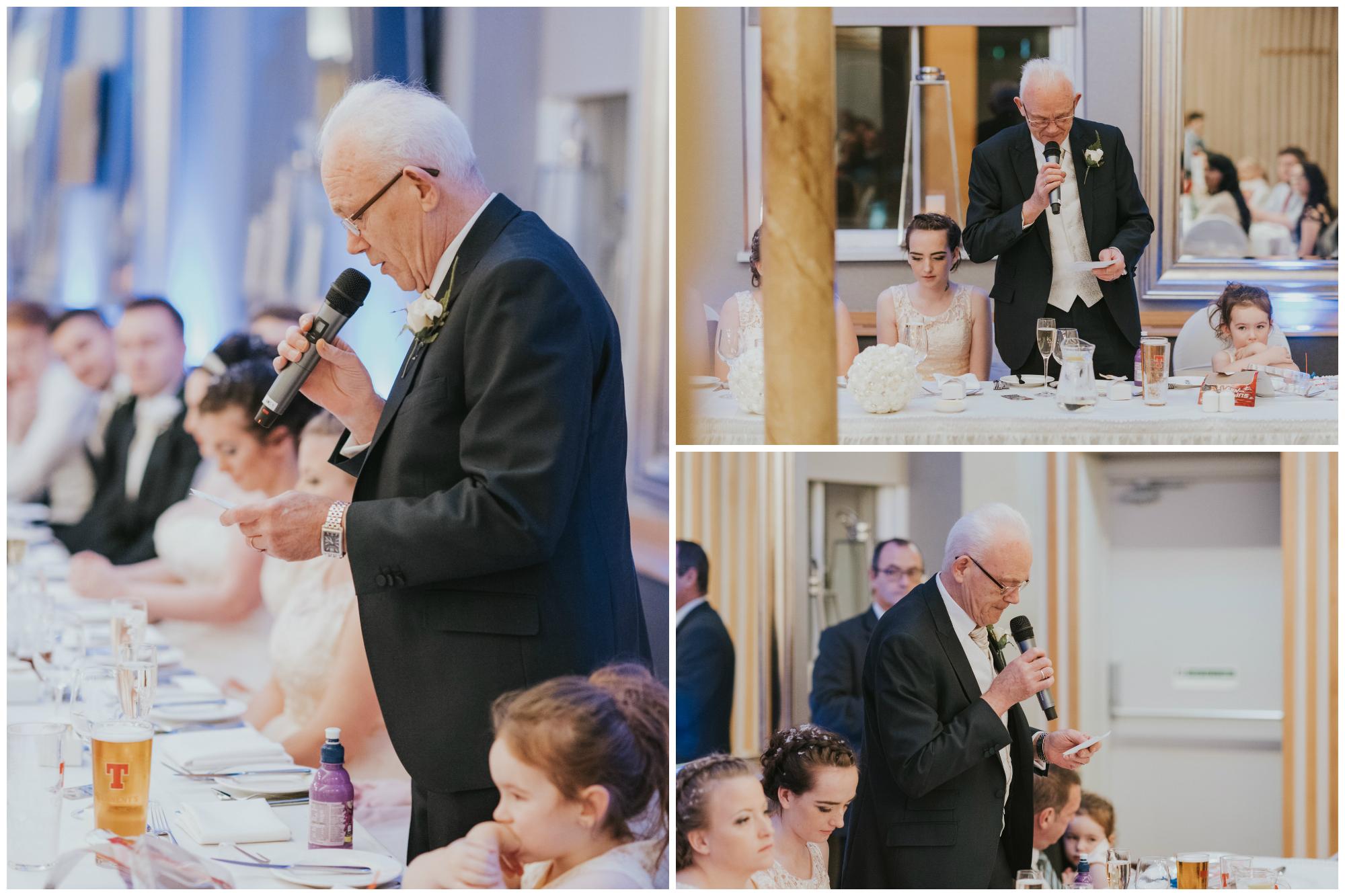 wedding photographer belfast ten square hotel grandad speech
