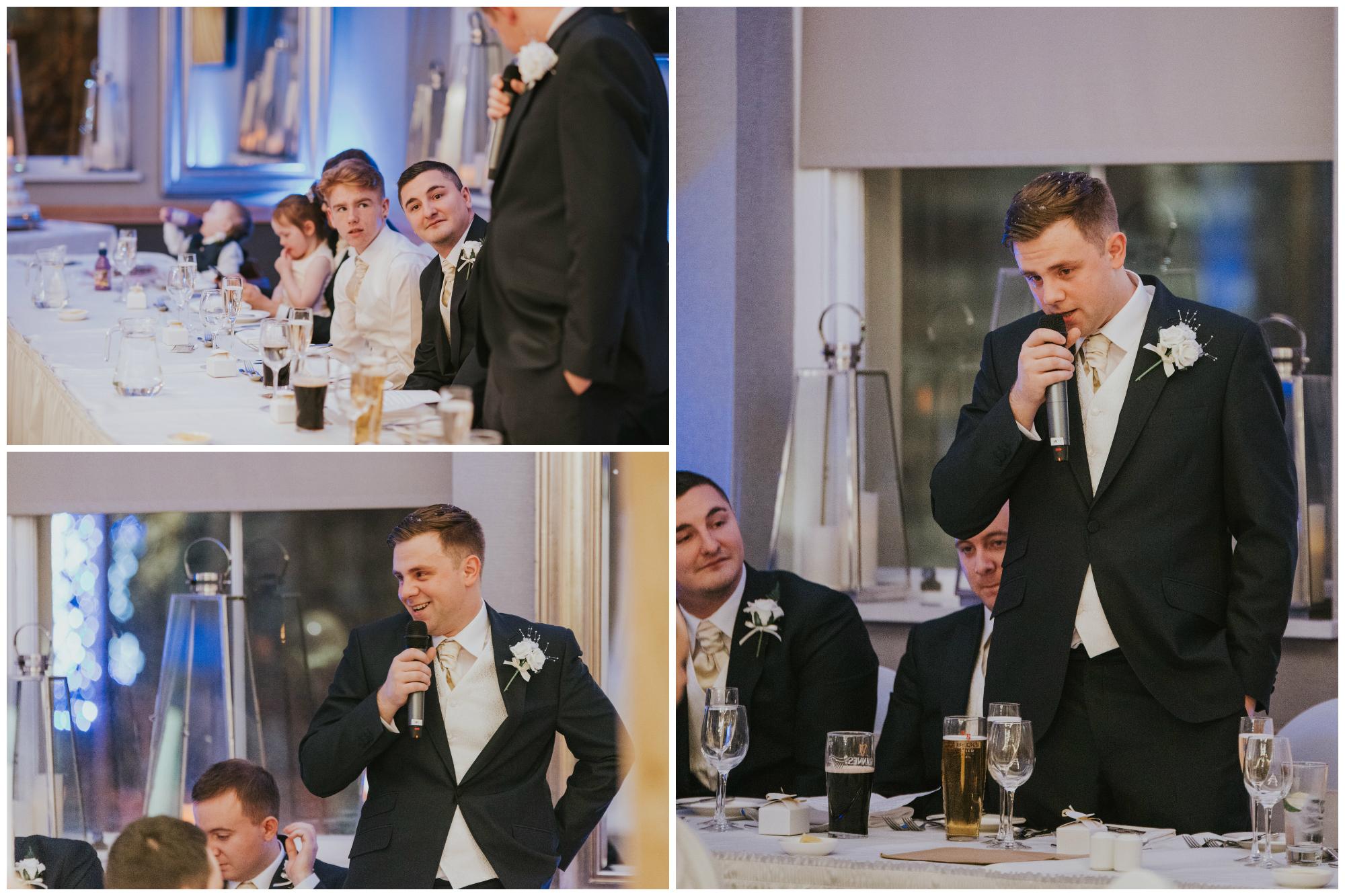 wedding photographer belfast ten square hotel groom speech