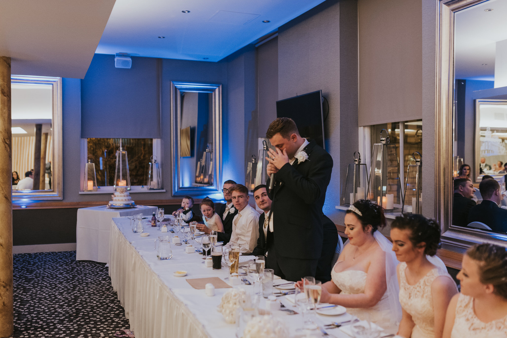wedding photographer belfast ten square groom speeches