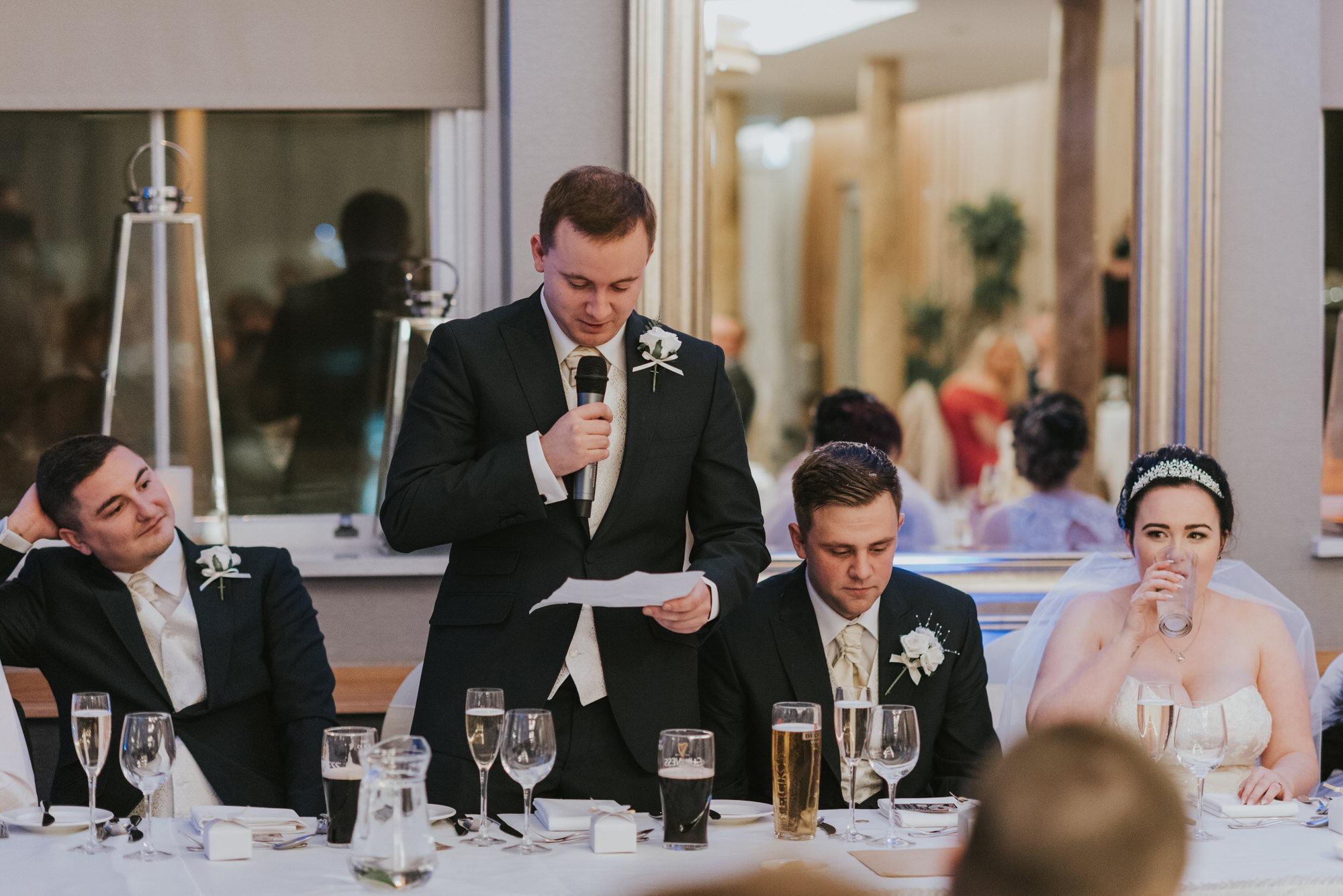 wedding photographer belfast ten square bestman speech