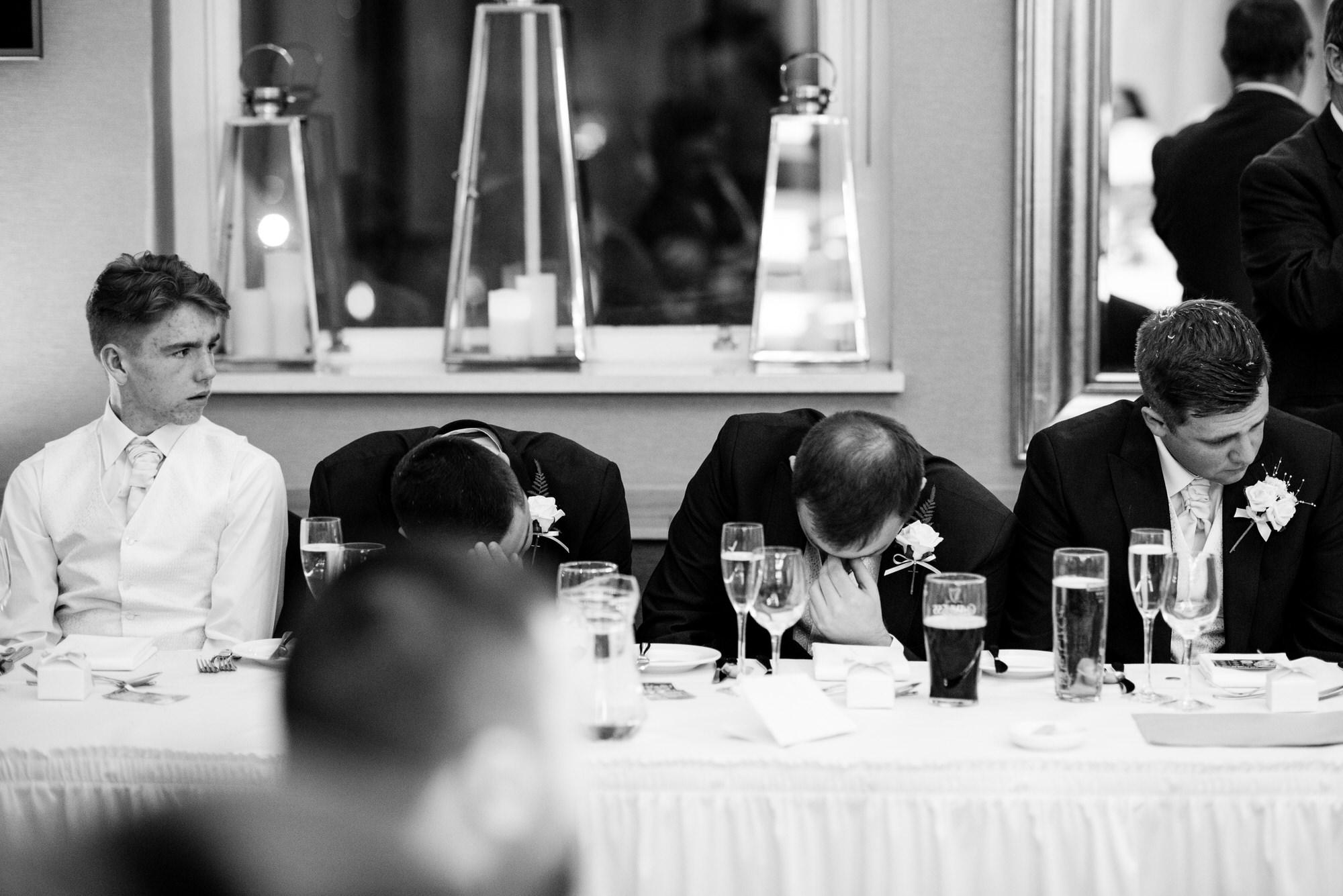 wedding photographer belfast ten square speech crying