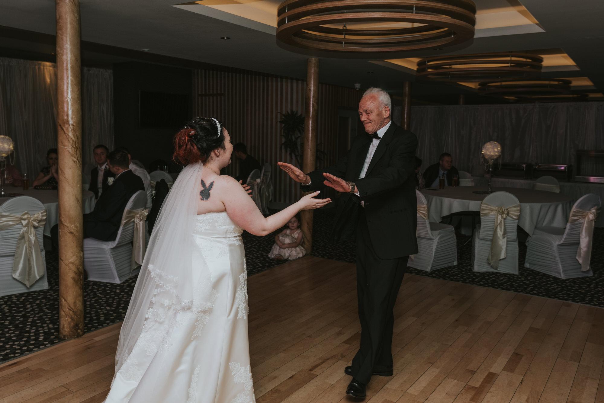 wedding photographer belfast ten square hotel first dance bride grandad