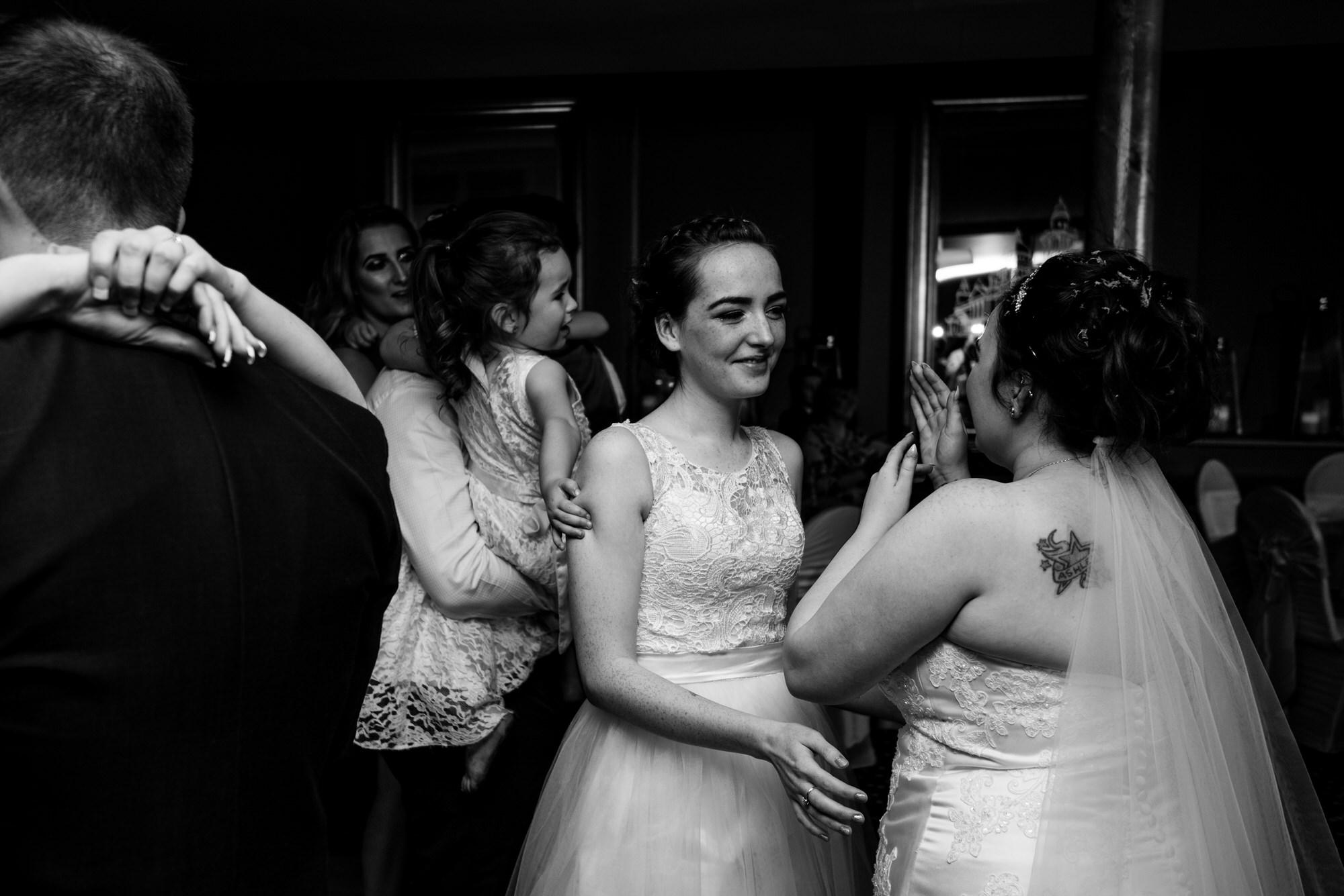 wedding photographer belfast ten square hotel first dance bride bridesmaid