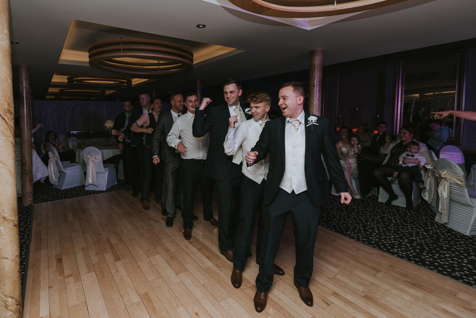 wedding photographer belfast ten square hotel dancing men