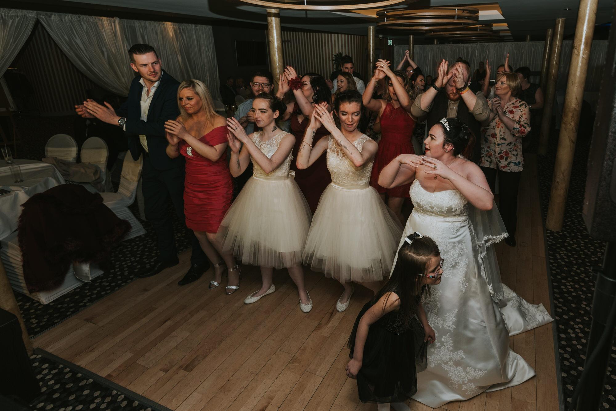 wedding photographer belfast ten square hotel dancing everyone