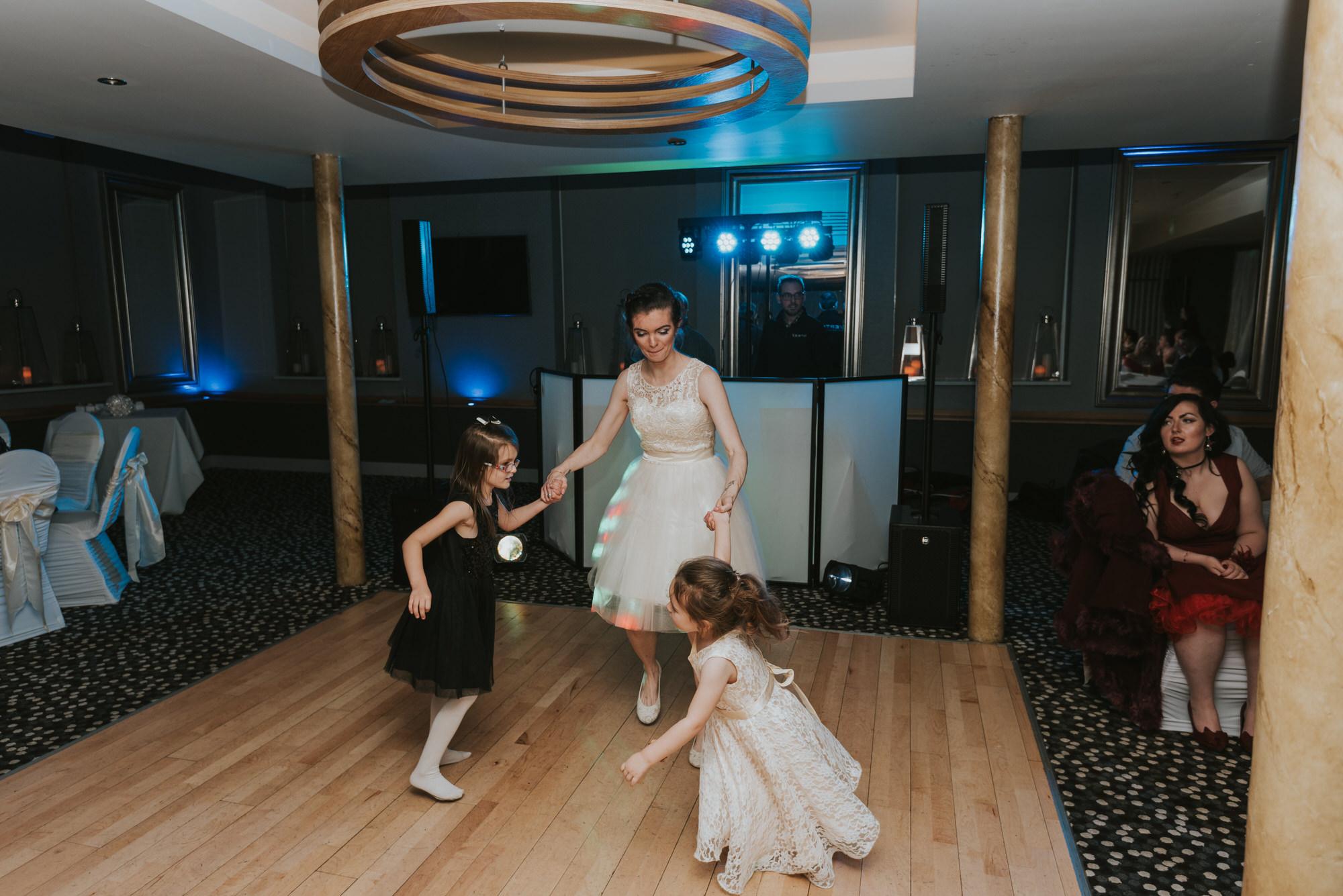 wedding photographer belfast ten square hotel dancing kids