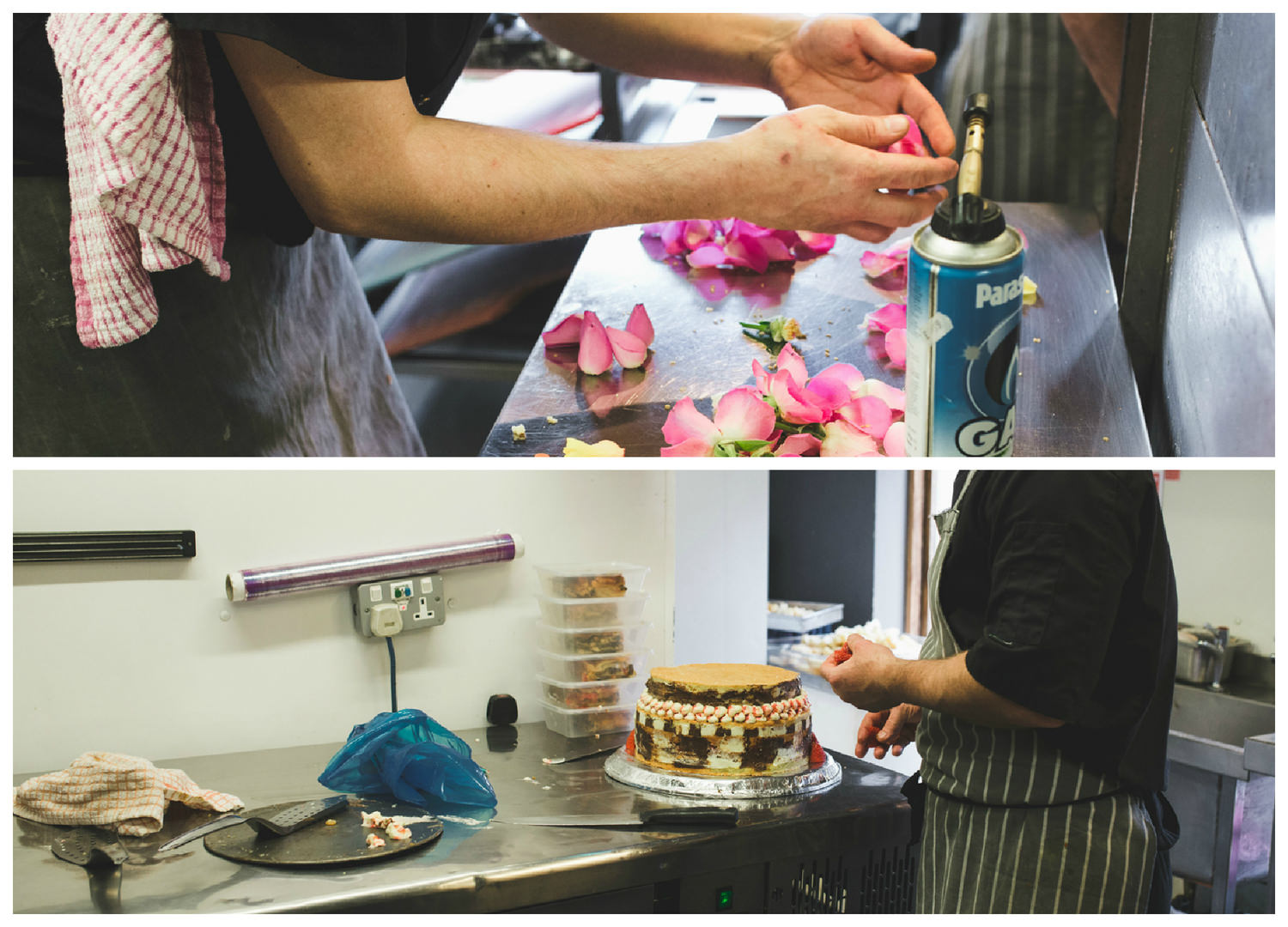 A quick glimpse of the Chef at Fontana preparing Paul & Laura's wedding cake