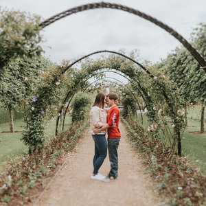 Engagement Session Bangor Castle Walled Gardens Brooke & James