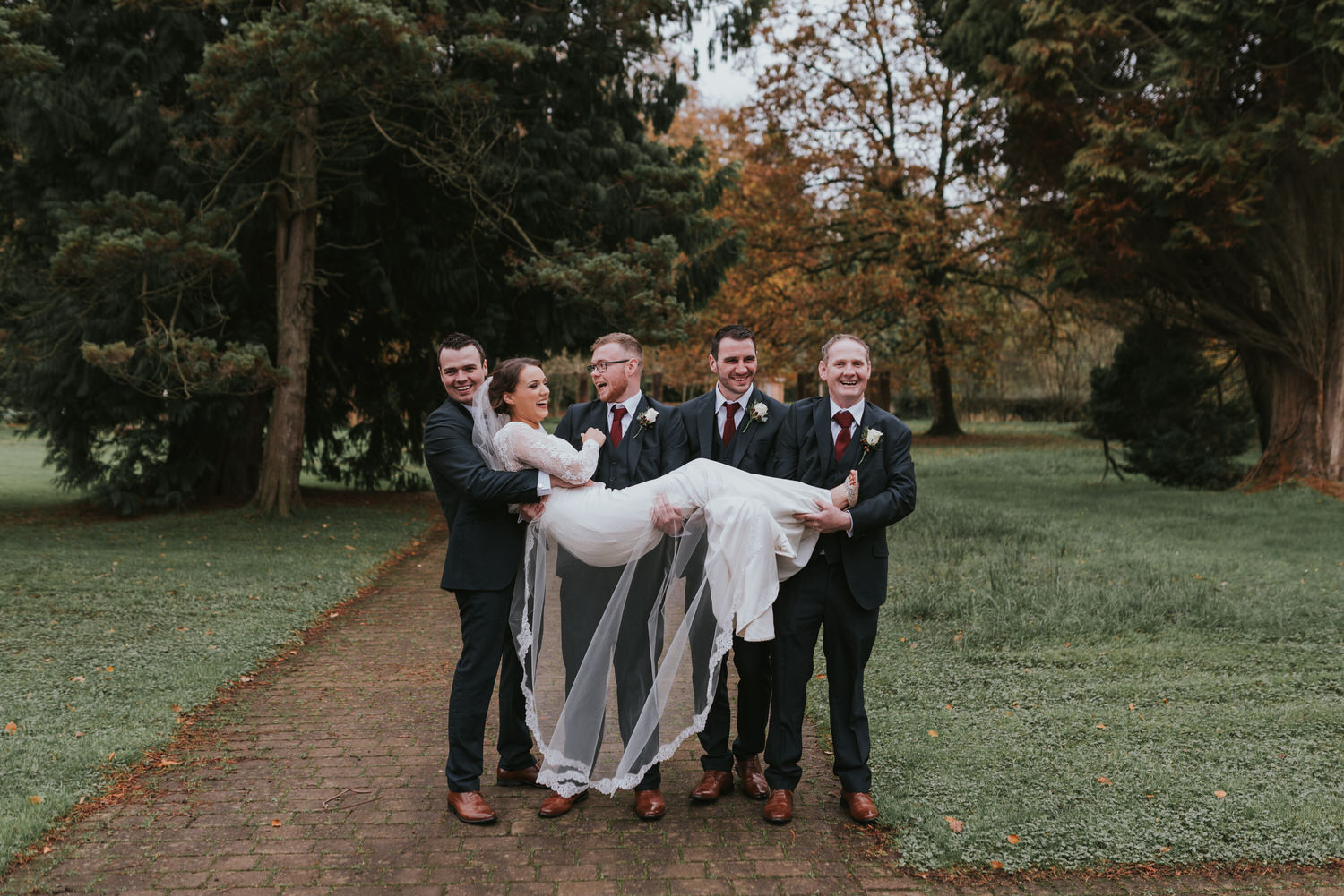group wedding photo at Tullylagan Country House Hotel