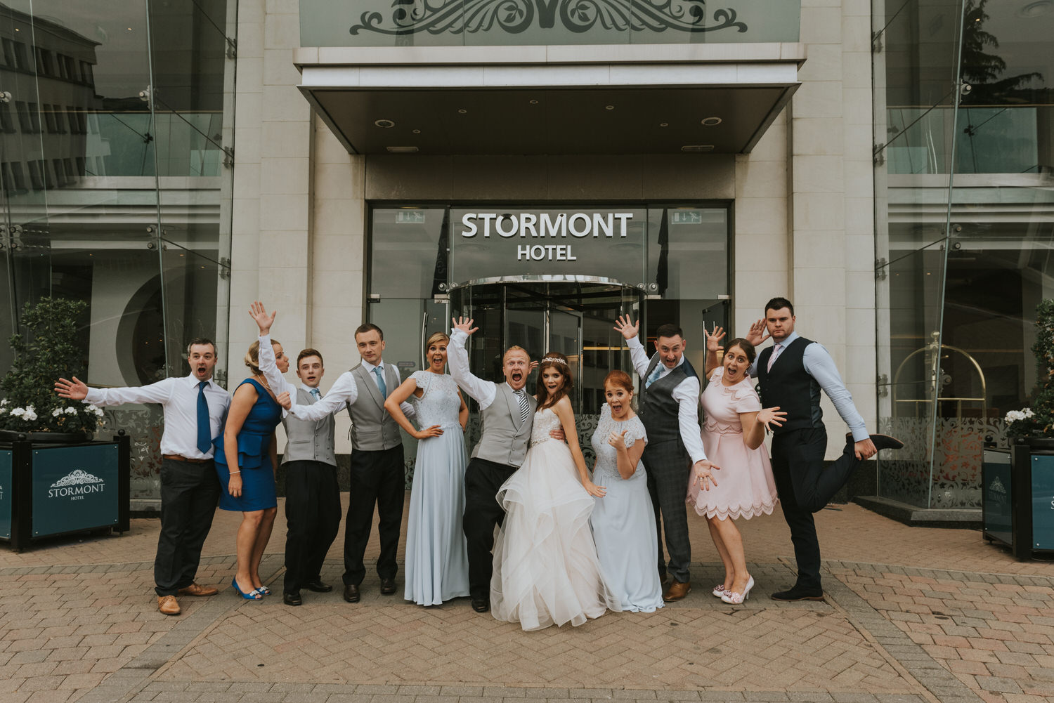 group wedding photos at the stormont hotel belfast