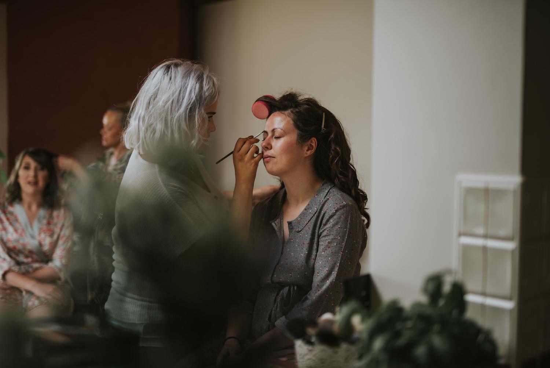 Lissanoure Castle wedding bride getting ready