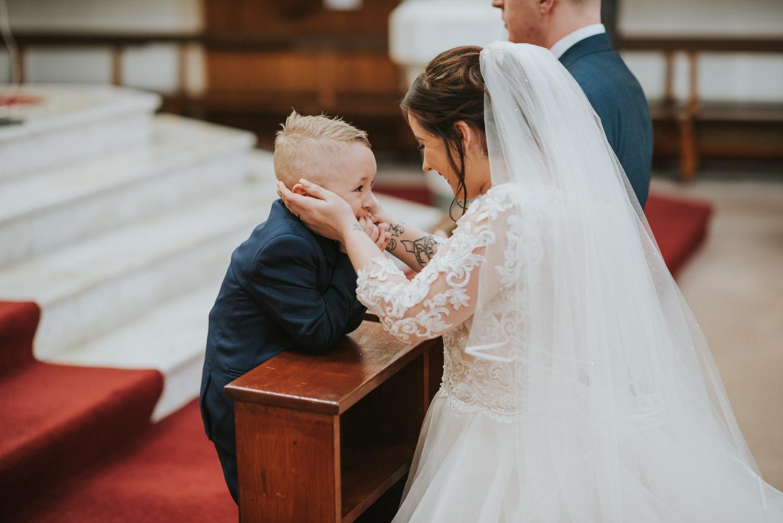Hugh McCanns wedding ceremony bride and page boy