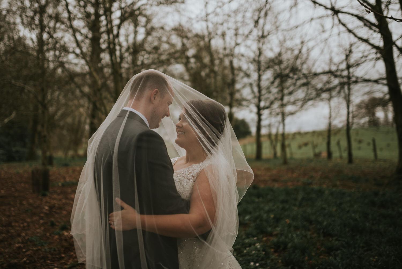 Leighinmohr House Hotel wedding bride and groom portraits