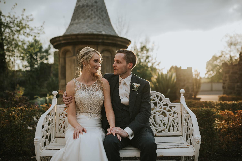 Tullyglass Hotel wedding bride and groom portraits