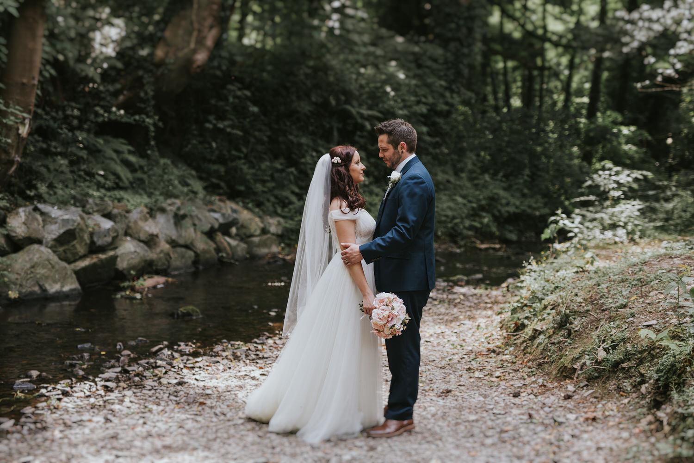 Clandeboye Lodge Hotel wedding bride and groom portraits