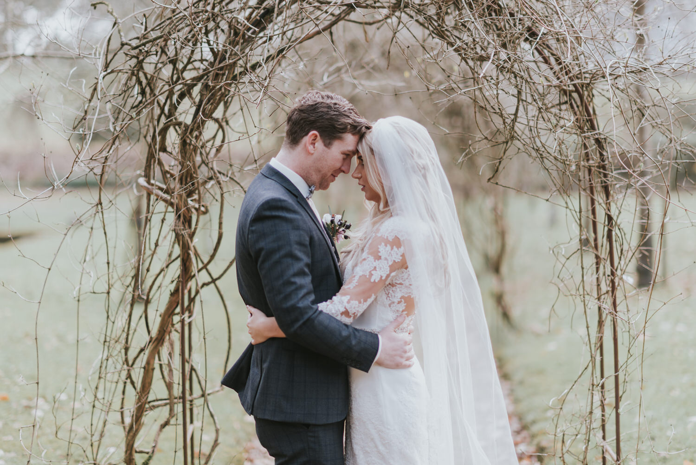 Tullylagan House Hotel wedding bride and groom portraits