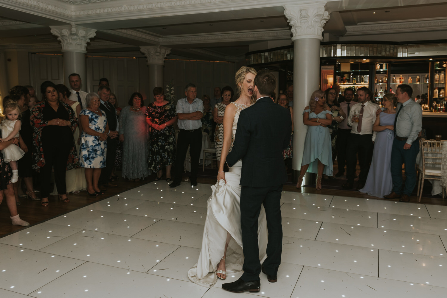 Tullyglass Hotel Wedding the first dance