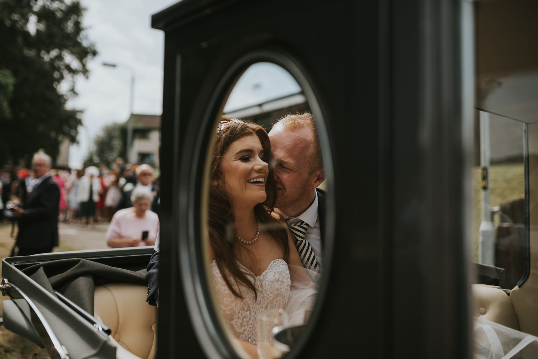Stormont Hotel Wedding bride and groom leaving ceremony