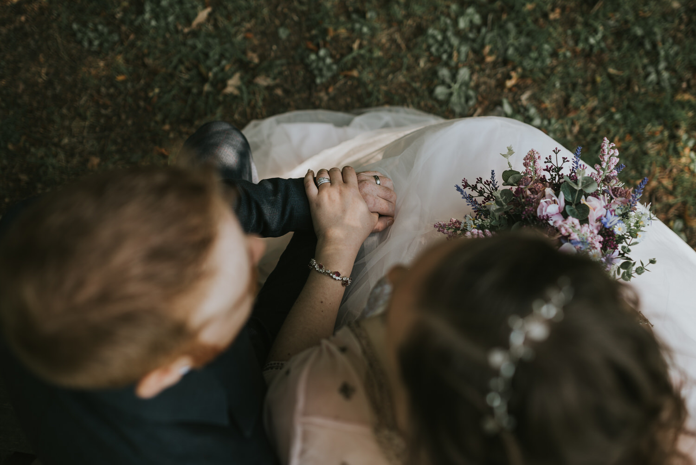 Dufferin Hall Wedding Bride and Groom Portrait