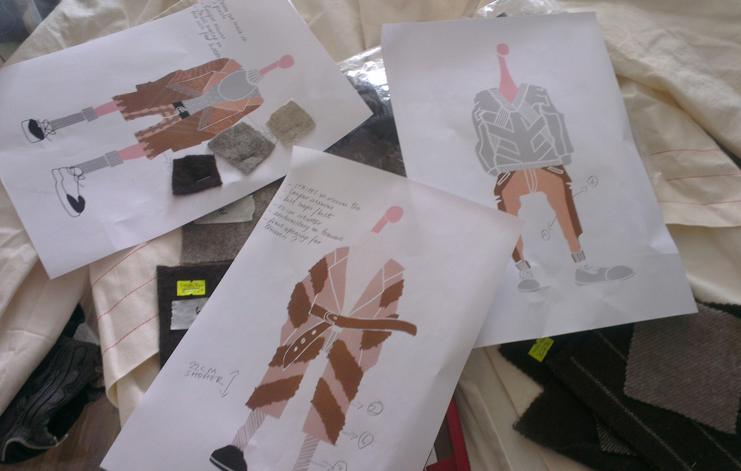 Carlo's sketches for Tengri's debut collection