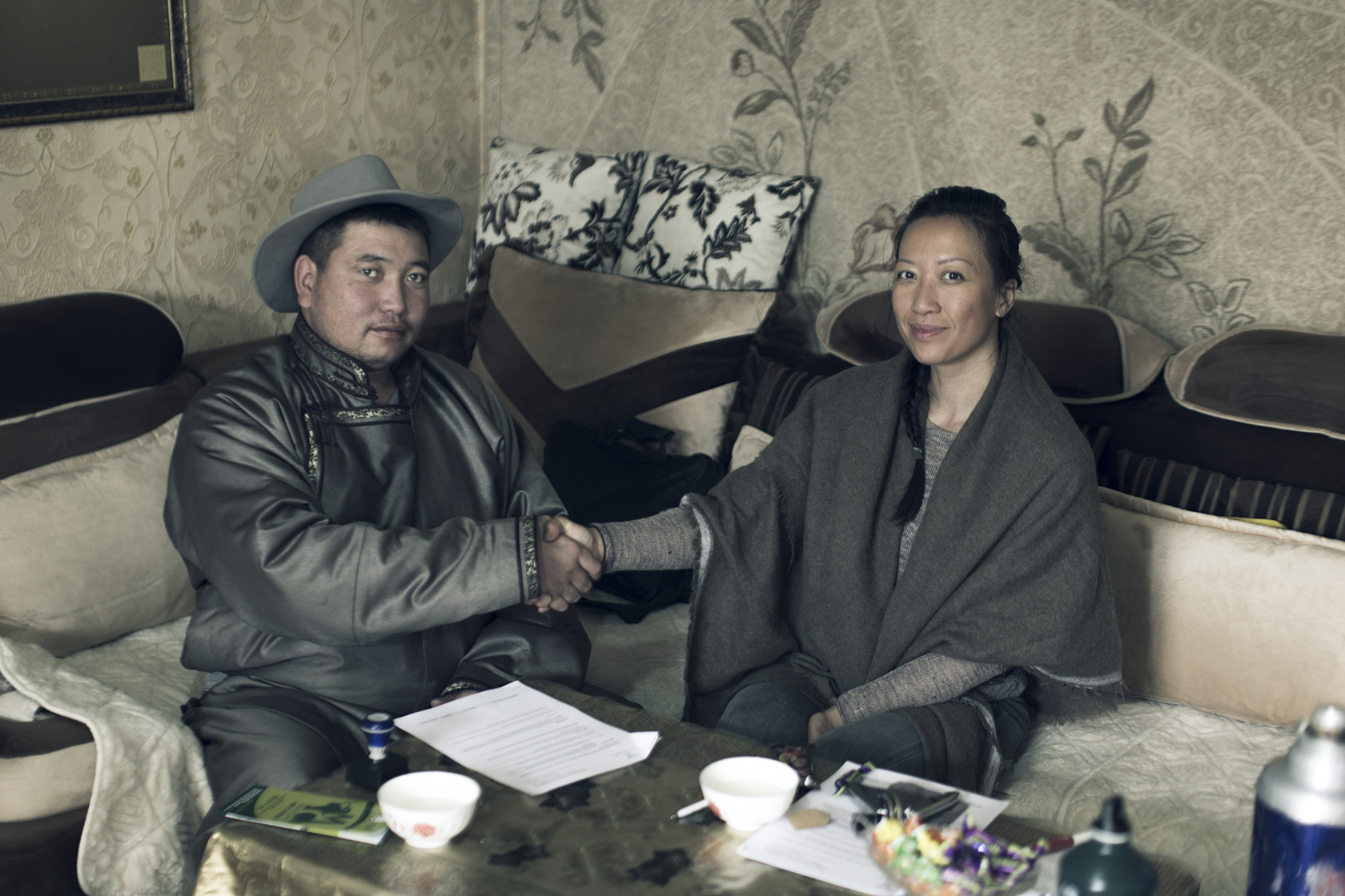 Contract signed with leader of the cooperatives (representing more than 4,500 herder families).