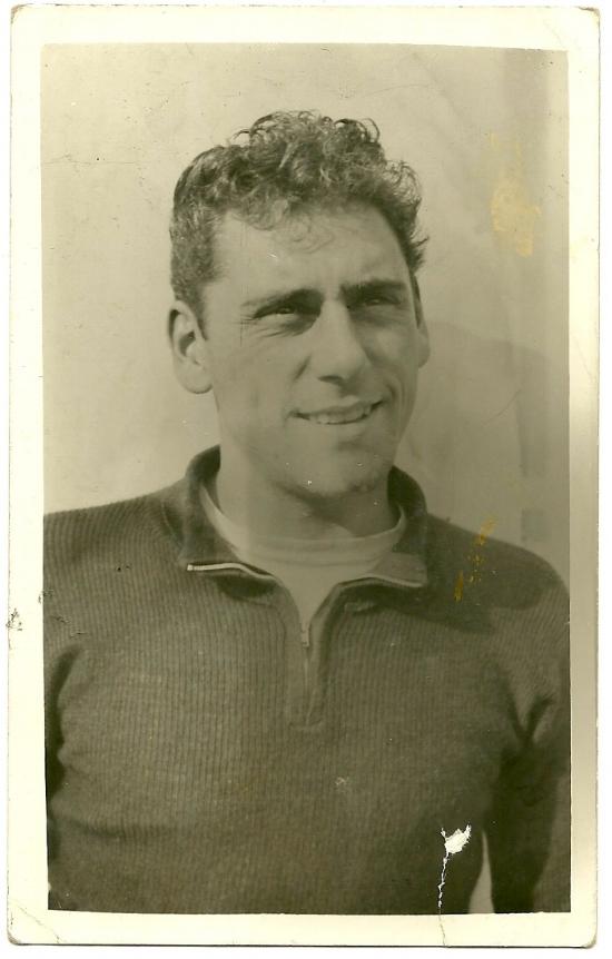 Harry Stedman wearing the original quarter-zip sweater