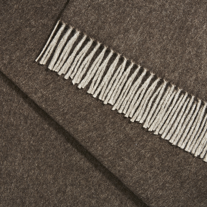 Fringed Blanket – our deluxe, super soft, Cocoa blanket with a luxurious smooth handle.