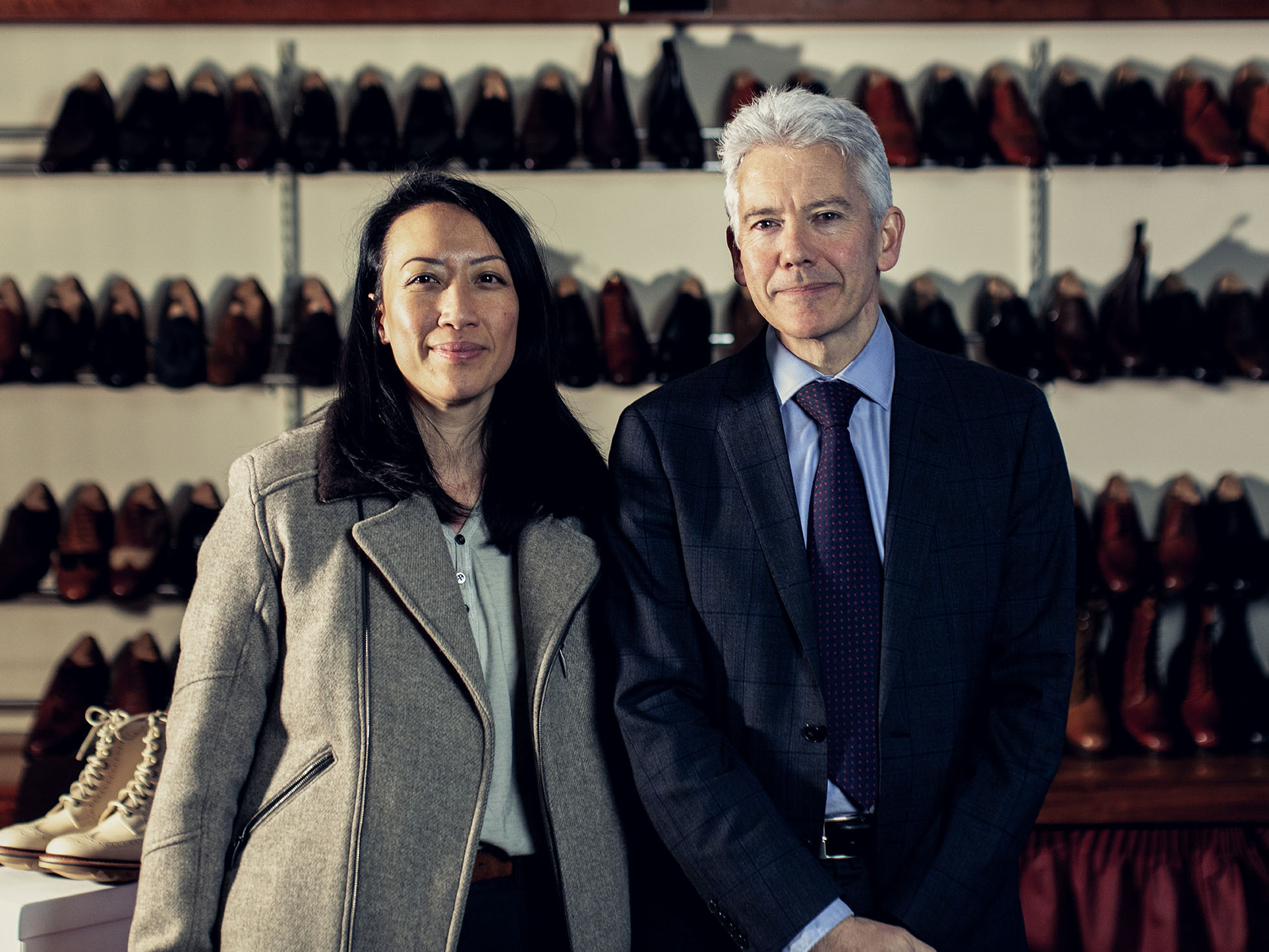 Nancy (Tengri) pictured here with Jonathan Church (Joseph Cheaney & Sons)