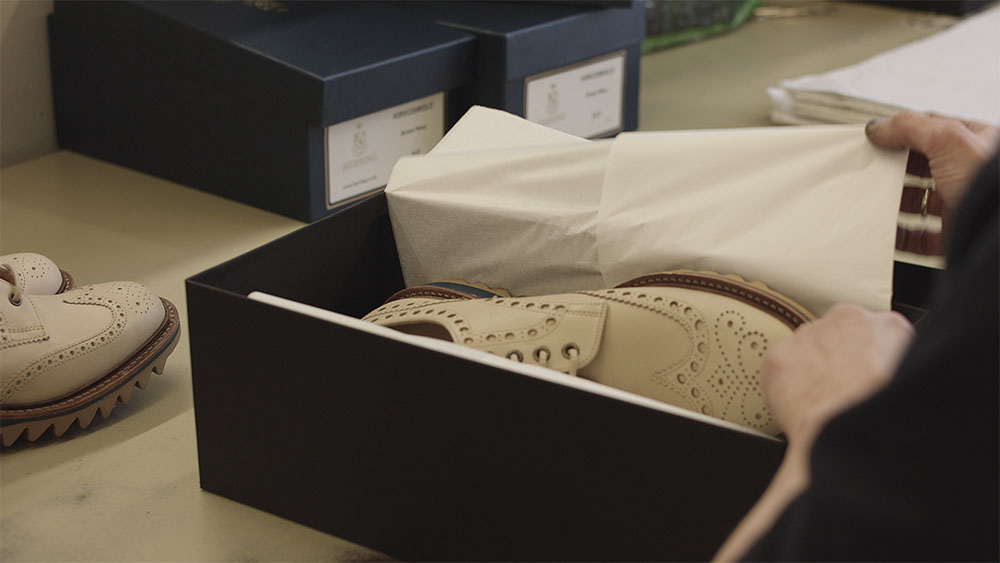 Shop the Khangai Mountain Brogues Collection - Please note these shoes are made to order and only available until 24 May 2019, for delivery in August 2019.Fittings and pre-orders are also available from 11 April at Joseph Cheaney & Sons, 26 Henrietta Street, Covent Garden, London WC2E 8NA.Please call 020 7240 7030 or email coventgarden@cheaney.co.uk for more details.