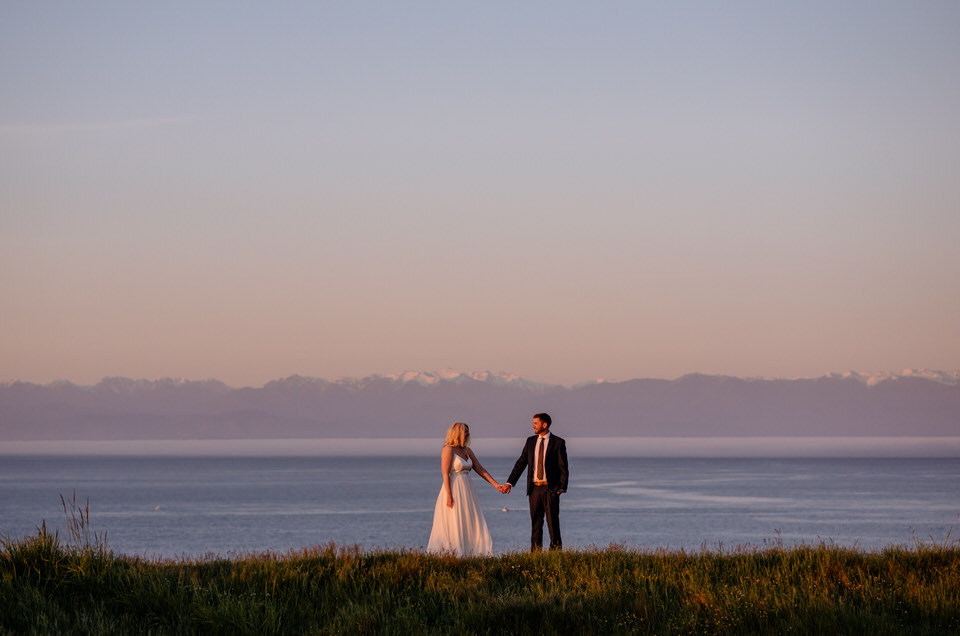 On the south end of San Juan Island, you have incredible views of the Olympic Range on the peninsula