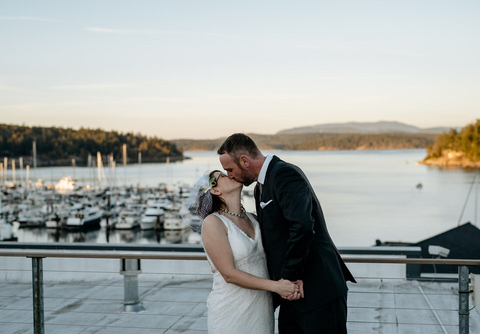 This wedding was in March at Downriggers and Island Inn!