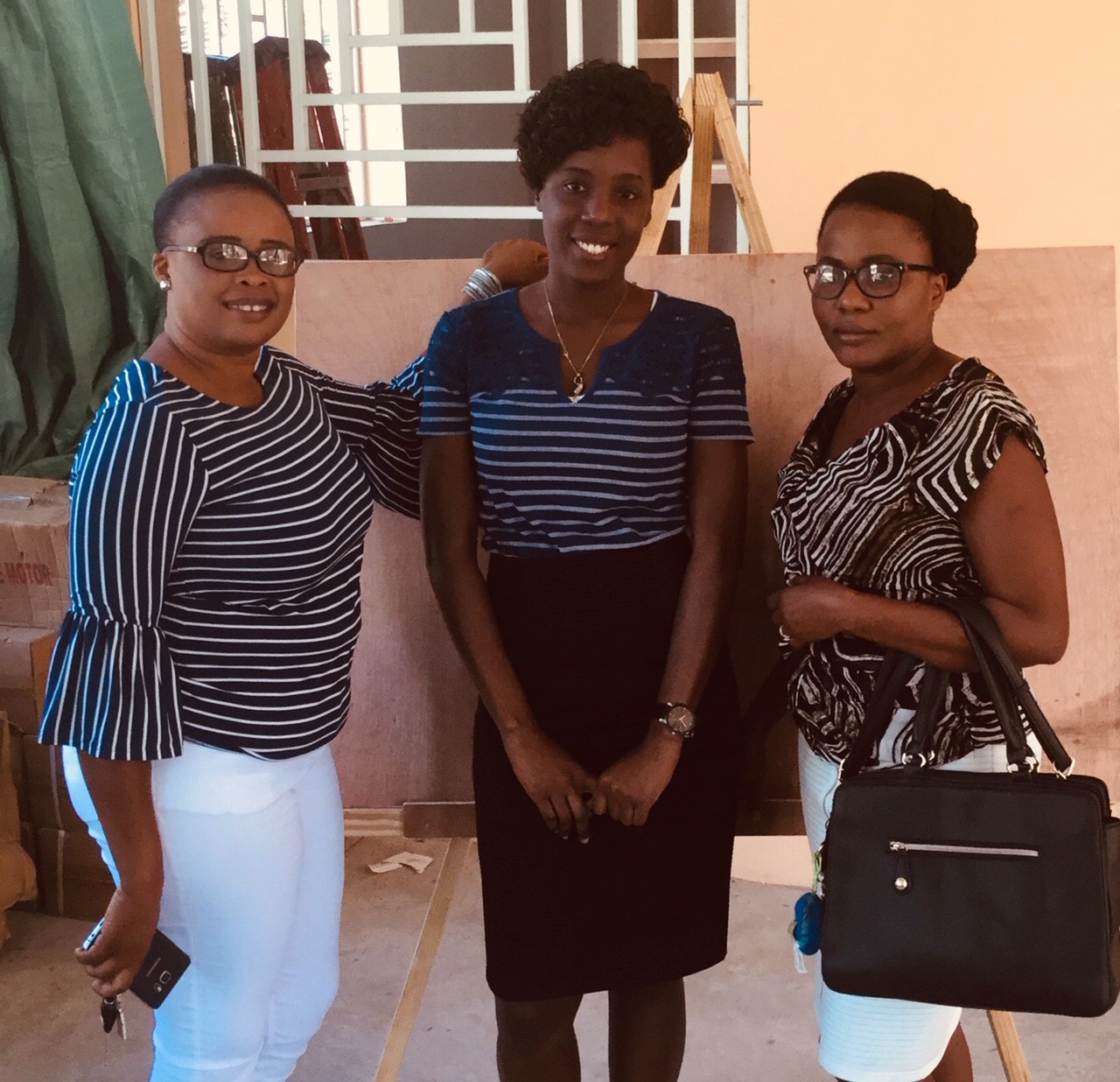 A big thank you from the staff and 24 students at the sewing school in Cap Haitian, Haiti. The pic directly below (left to right) shows .. our Business Director, our Registered Nurse (Clinic), and Sewing Instructor.jpg