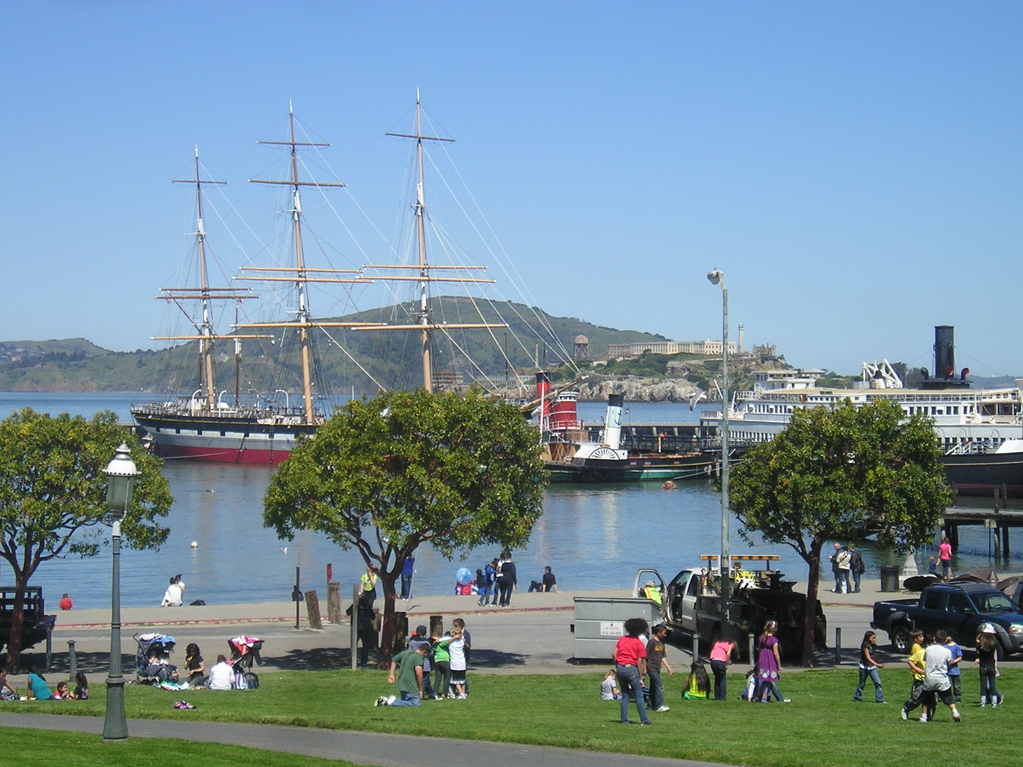You can board the Balclutha at Hyde St. Pier and then visit the Maritime Museum at Aquatic Park